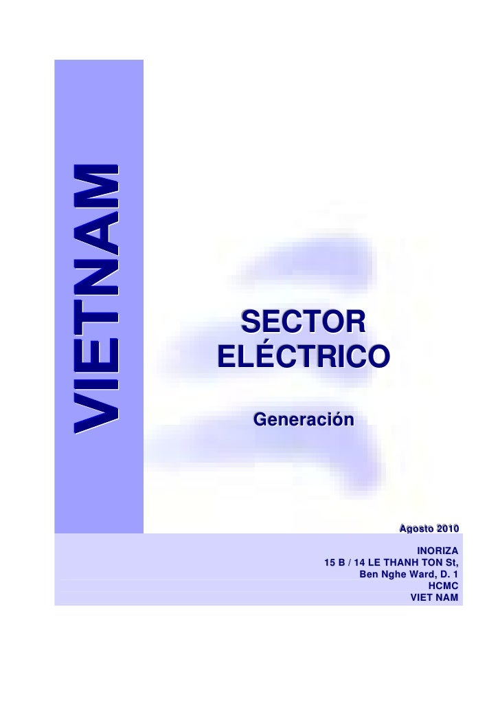 VIETNAM Indice estudio Generación Eléctrica 2010 Juan Inoriza