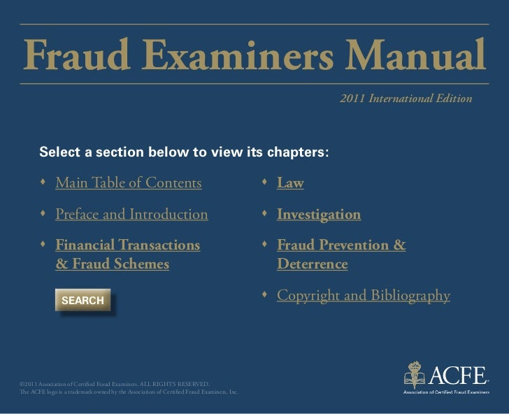 Fraud Examiners Manual                                                                                                    ...
