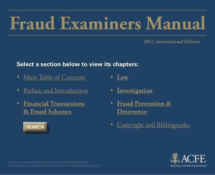 Indice manual de certificación ACFE