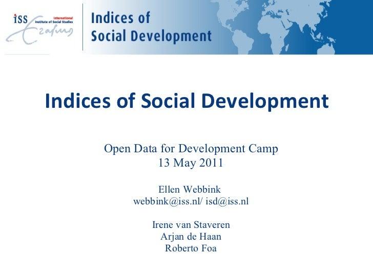 Indices of Social Development  - Ellen Webbink - IndSocDev
