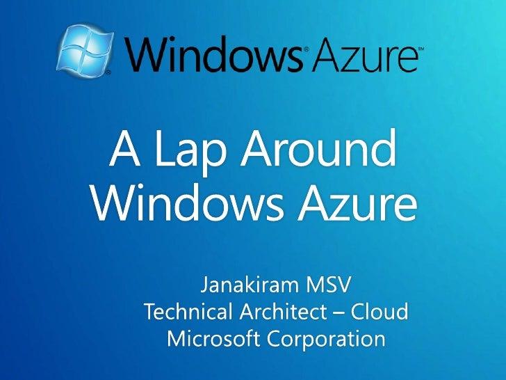 A Lap Around Windows Azure