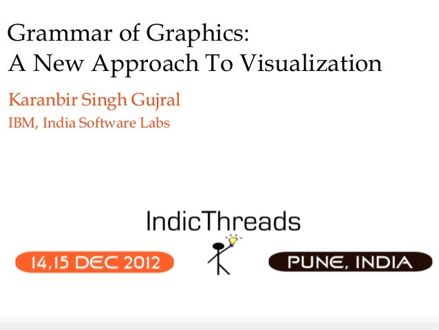 Grammar of Graphics:A New Approach To VisualizationKaranbir Singh GujralIBM, India Software Labs