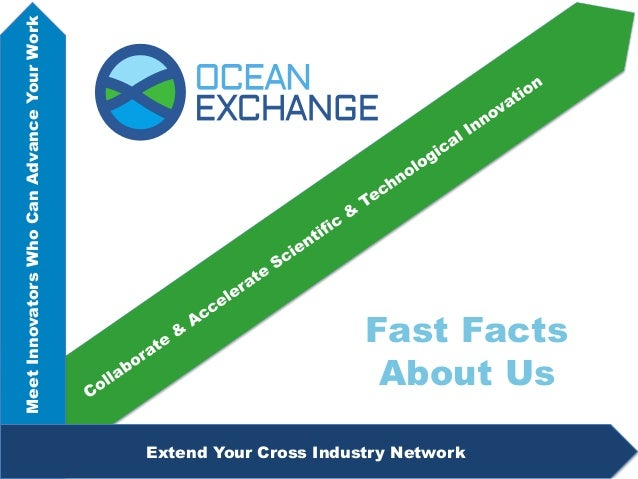 Fast Facts About Us MeetInnovatorsWhoCanAdvanceYourWork Extend Your Cross Industry Network