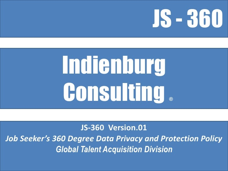 Indienburg JS-360 Degree Data Privacy and Protection Policy