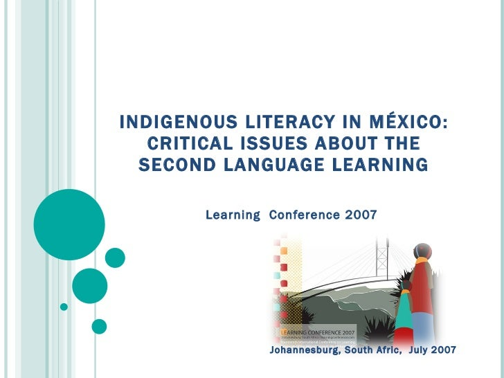 Indigenous literacy in méxico