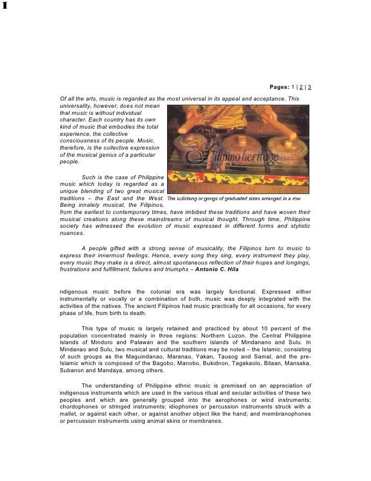 Indigenous MusicBy Antonio C. HilaTuklas Sining: Essays on the Philippine Arts                                            ...