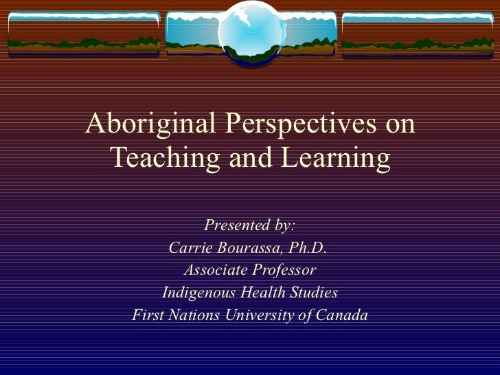 Indigenous pedagogy and learning oct2011