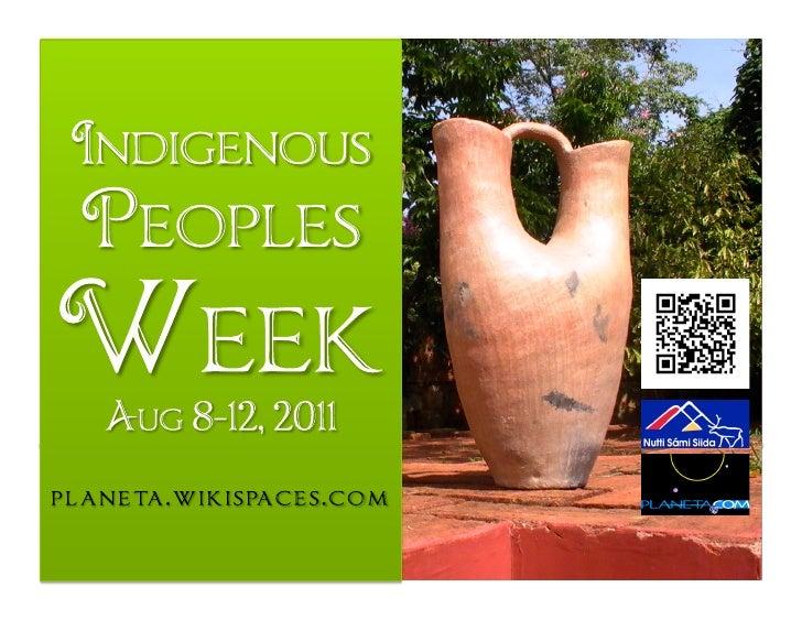 Indigenous People's Week 2011
