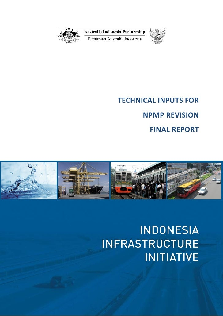 TECHNICAL INPUTS FOR      NPMP REVISION       FINAL REPORT