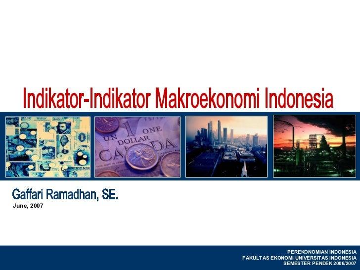 June, 2007                                                                                          PEREKONOMIAN INDONESIA...