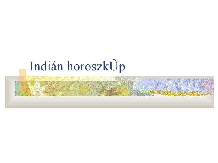Indián horoszkóp