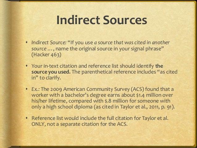 Apa indirect citation