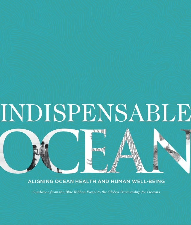 INDISPENSABLE ALIGNING OCEAN HEALTH AND HUMAN WELL-BEING Guidance from the Blue Ribbon Panel to the Global Partnership for...