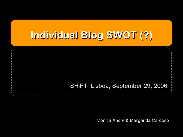 Individual blog SWOT (?), SHiFT