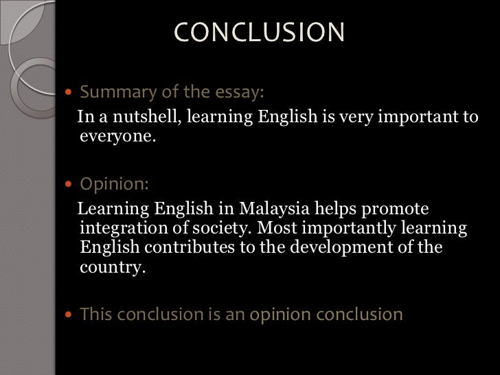 Learning English Essay