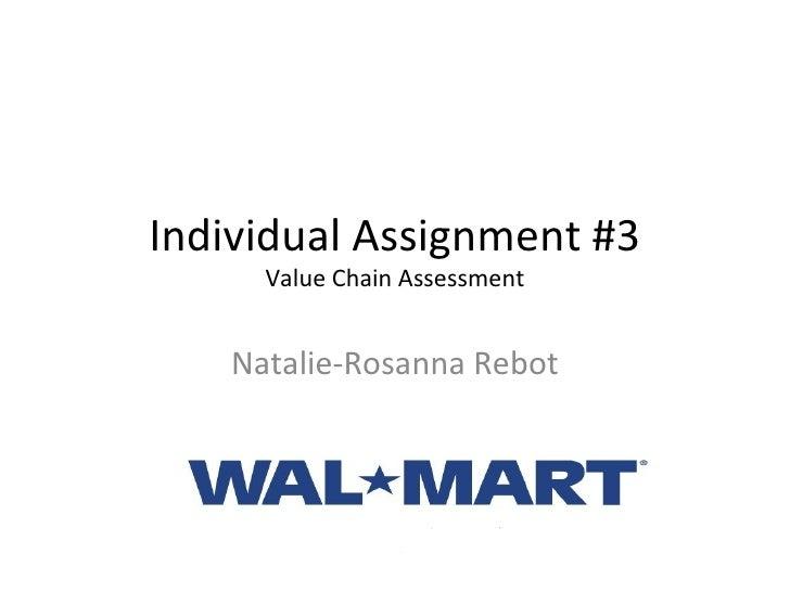 Individual Assignment #3 Value Chain Assessment Natalie-Rosanna Rebot