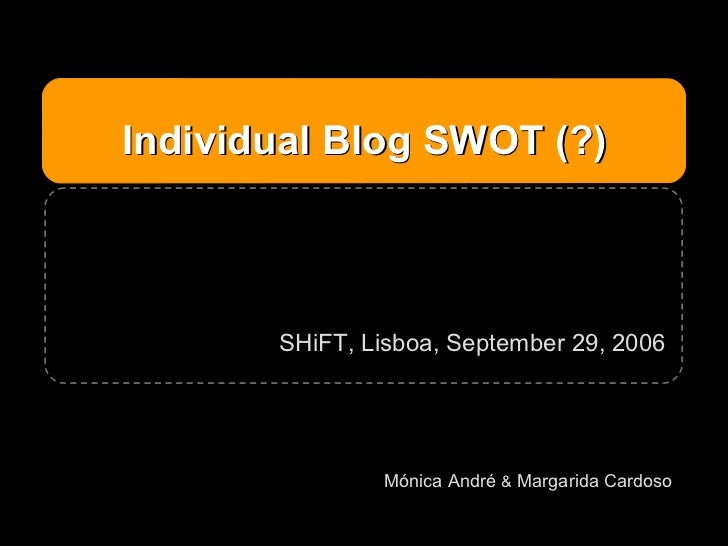 Individual Blog Swot Withparticipation