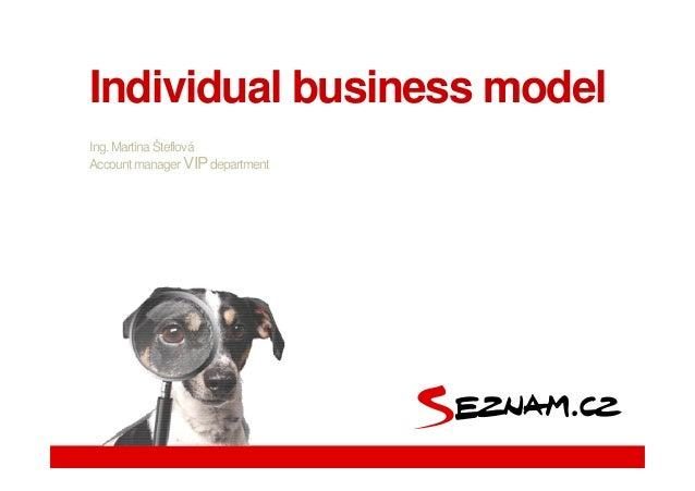 Martina Steflova, Seznam.cz - Individual Business Model