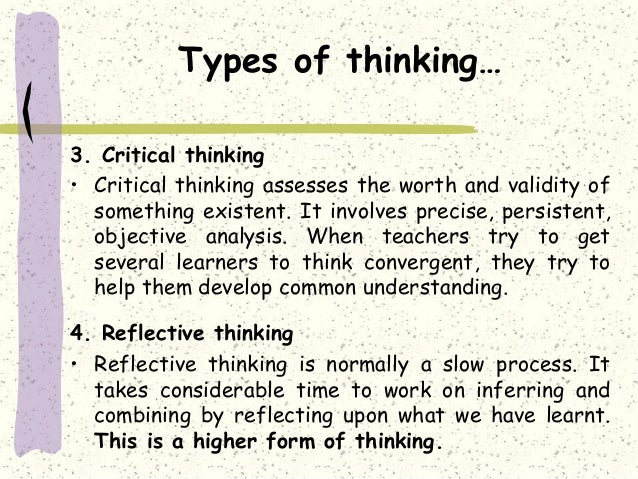 what is reflective thinking in education