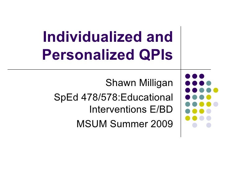 Individualize And Personalize Qpi