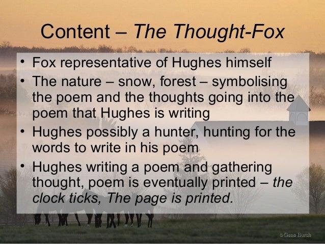 Ted Hughes fox