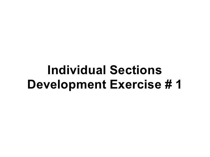 Individual sections development_exercise_1