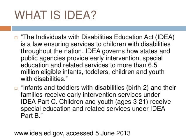 teaching individuals with disability It is estimated that 15% of children in the united states have a disability the  individuals with disabilities education act entitles every affected child in the  united.