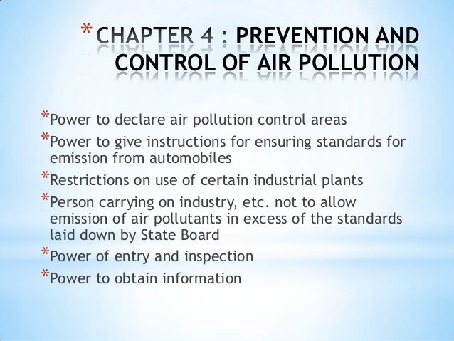 School essay on pollution control