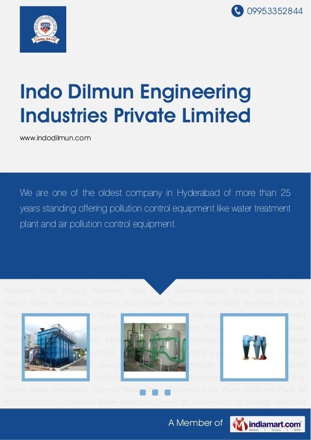 Waste Water Treatment Plant by Indo dilmun-engineering-industries-private-limited