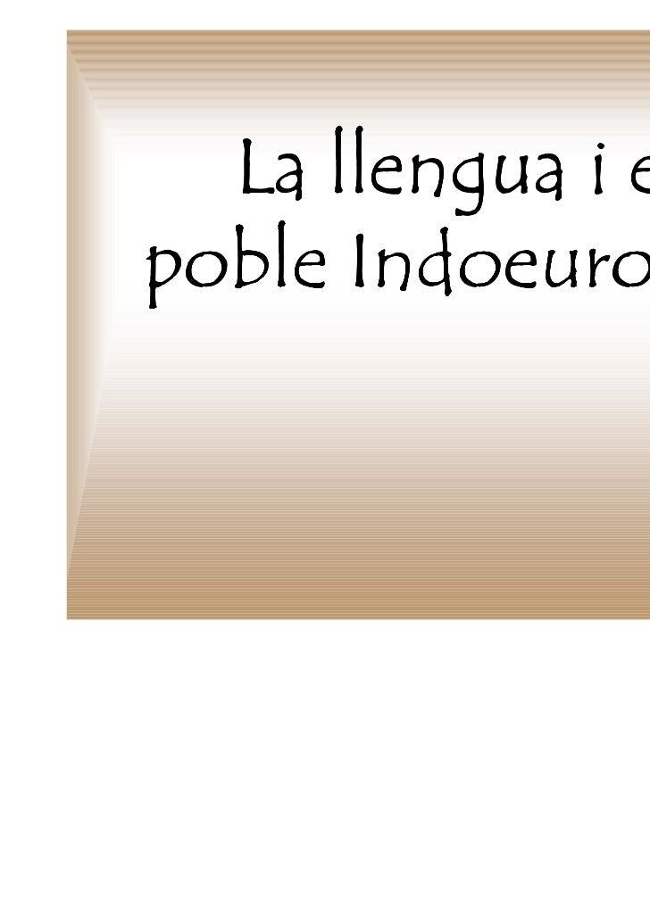 La llengua i elpoble Indoeuropeu