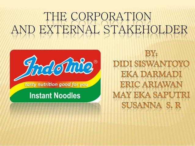 THE CORPORATION AND EXTERNAL STAKEHOLDER