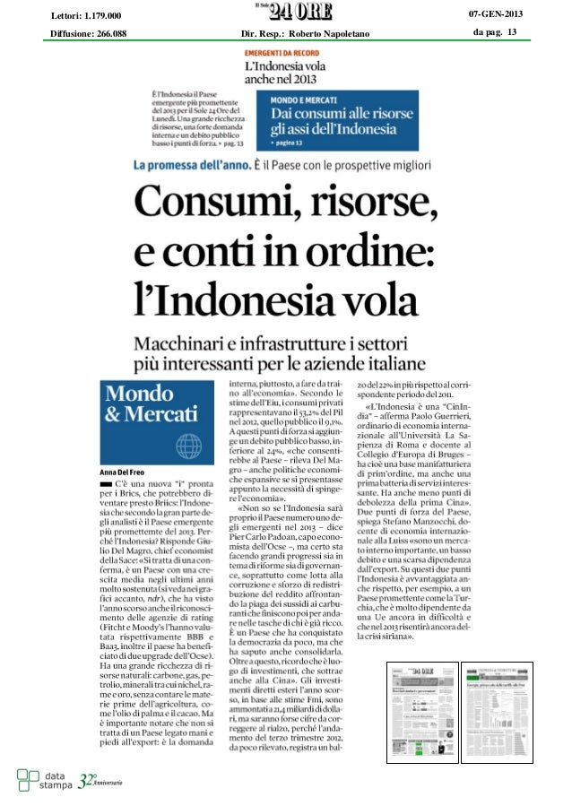Consumi, risorse e conti in ordine: l'Indonesia vola