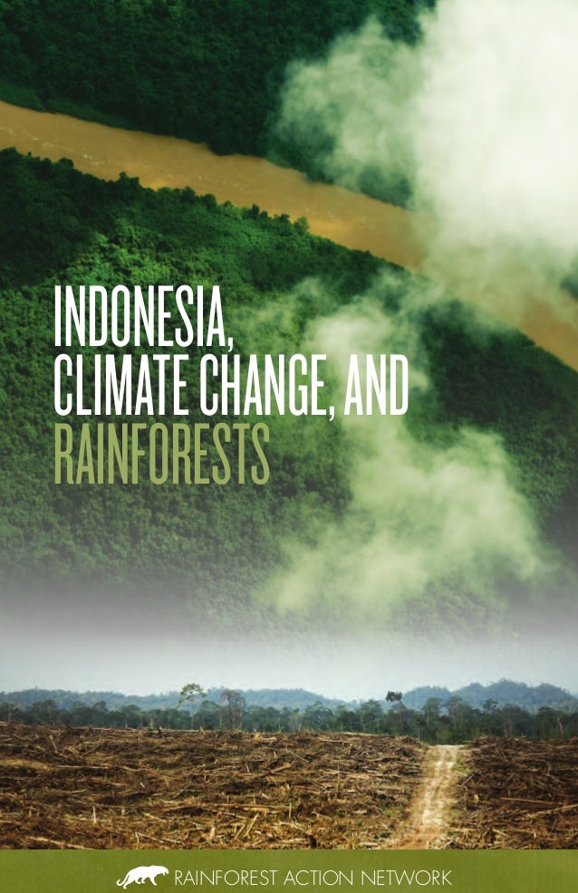 RAINFOREST ACTION NETWORK INDONESIA, CLIMATECHANGE,AND RAINFORESTS