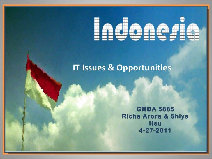 IT Issues & Opportunities GMBA 5885 Richa Arora & Shiya Hsu 4-27-2011