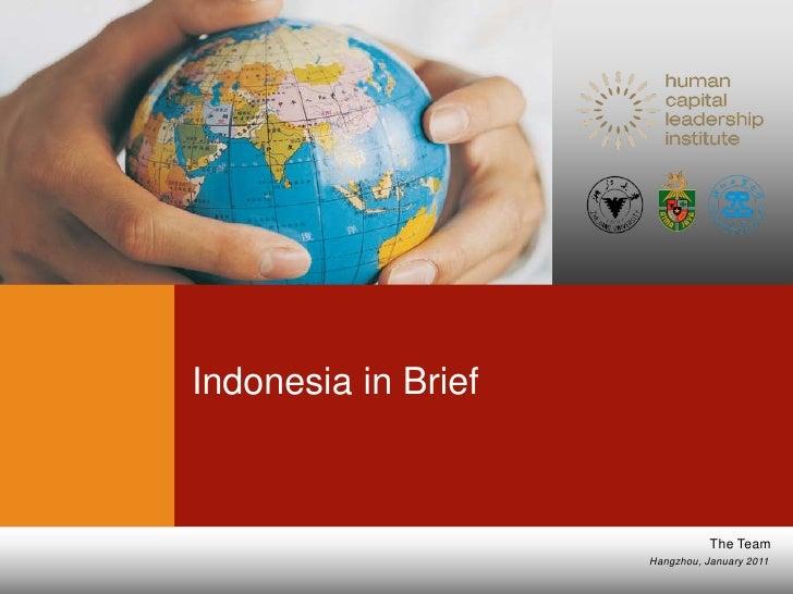 Indonesia in brief