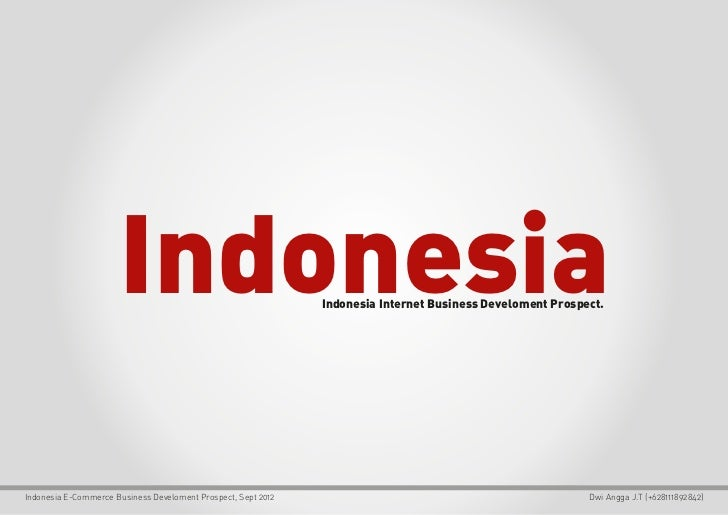 Indonesia E-Commerce Growth 2012