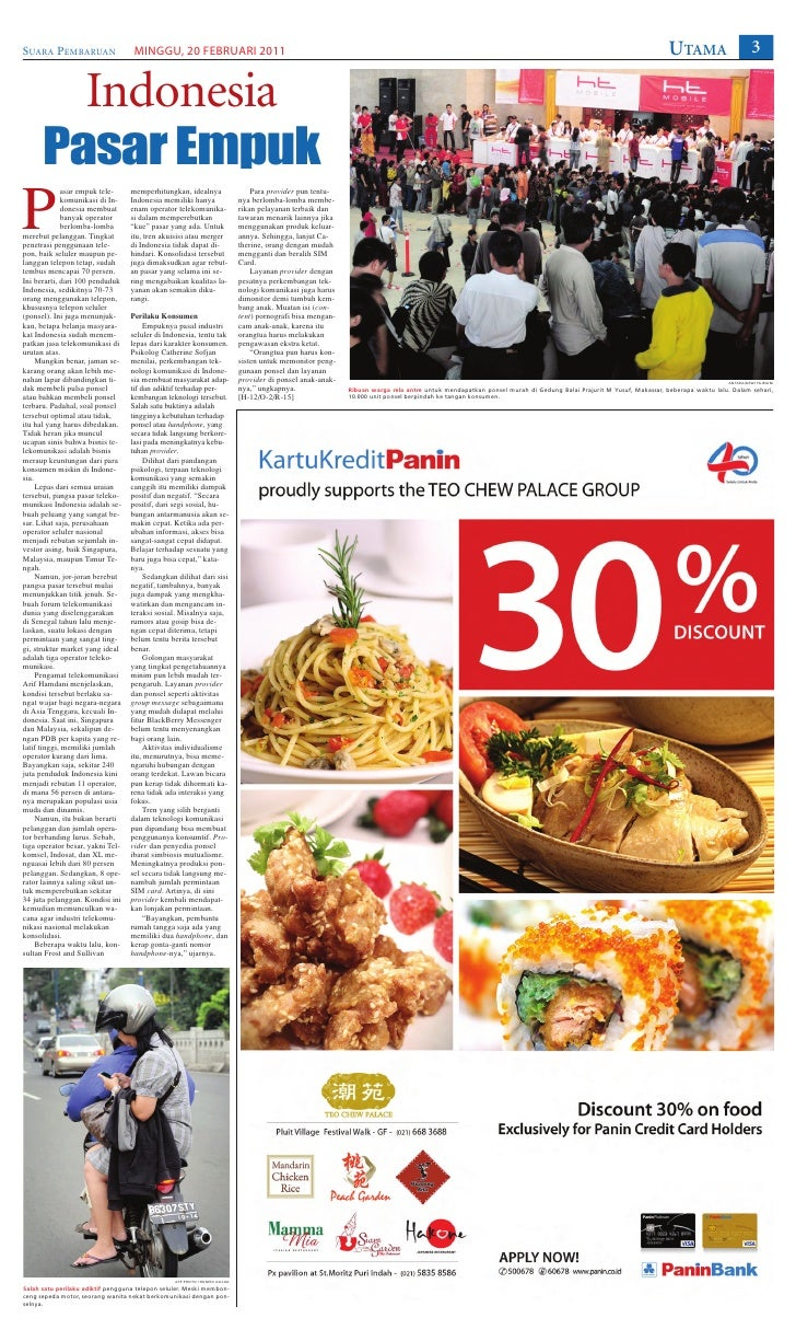 SUARA PEMBARUAN                     MINGGU, 20 FEBRUARI 2011                                                              ...