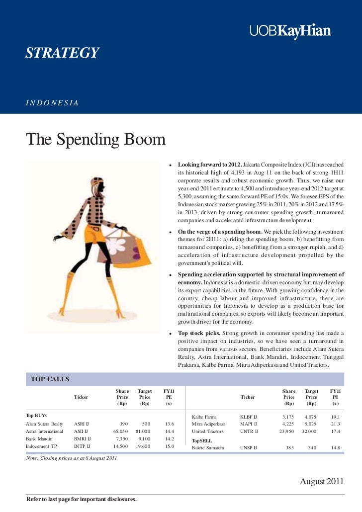 STRATEGYINDONESIAThe Spending Boom                                                                Looking forward to 2012....