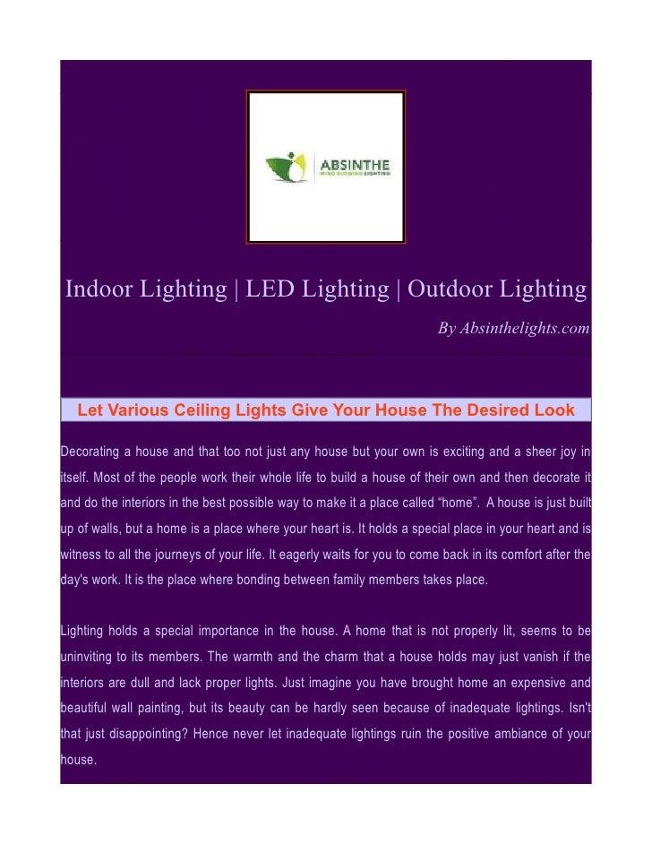 Indoor Lighting   LED Lighting   Outdoor Lighting