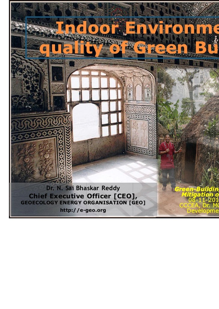 Indoor Environmental     quality of Green Building       Dr. N. Sai Bhaskar Reddy        Green-                           ...
