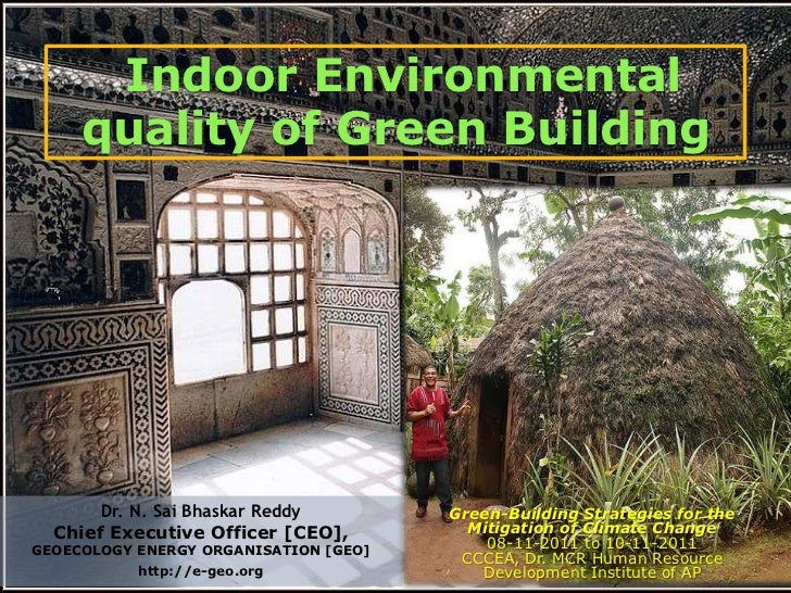 Indoor Environmental     quality of Green Building       Dr. N. Sai Bhaskar Reddy        Green-Building Strategies for the...