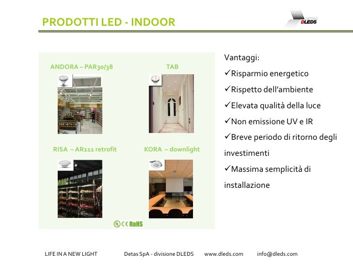 PRODOTTI LED - INDOOR                                                                Vantaggi:  ANDORA – PAR30/38         ...