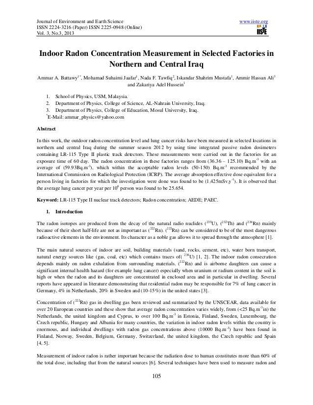 Indoor radon