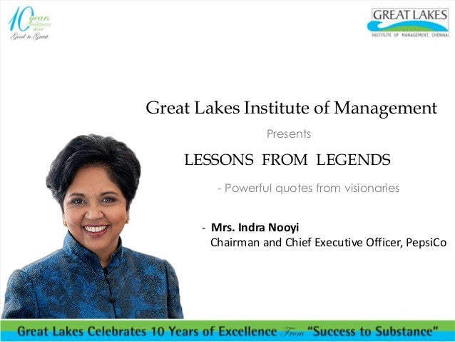 Inspiring Words From Indra Nooyi Lessons From Legends