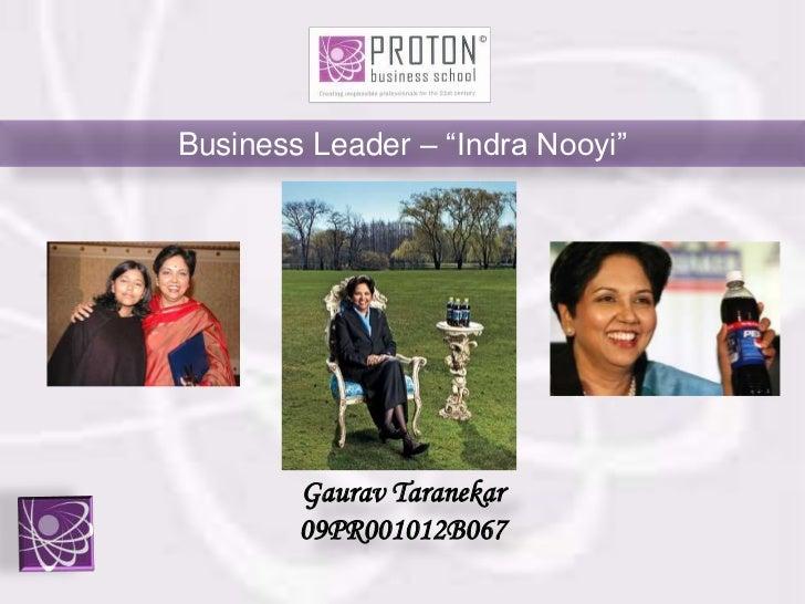Leadership style of Indra Nooyi CEO PepsiCo