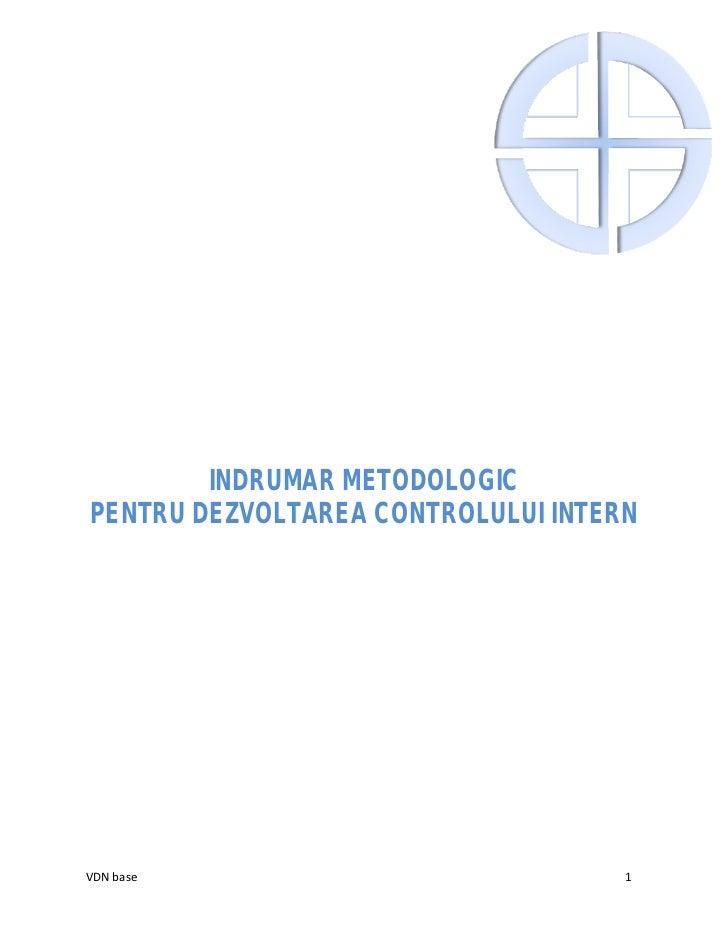 Indrumar metodologic implementare cmi