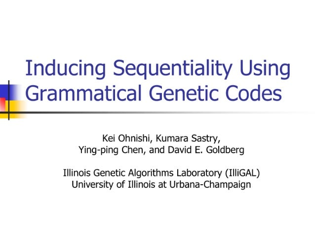Inducing Sequentiality Using Grammatical Genetic Codes