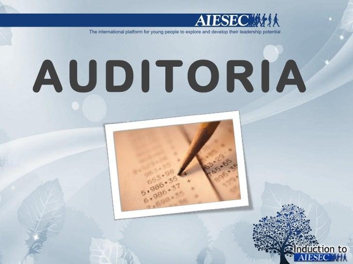 Inducion sessão auditoria