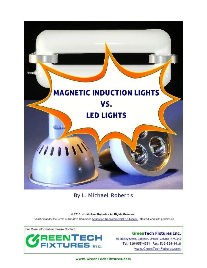 Induction lights vs led lights   green tech fixtures