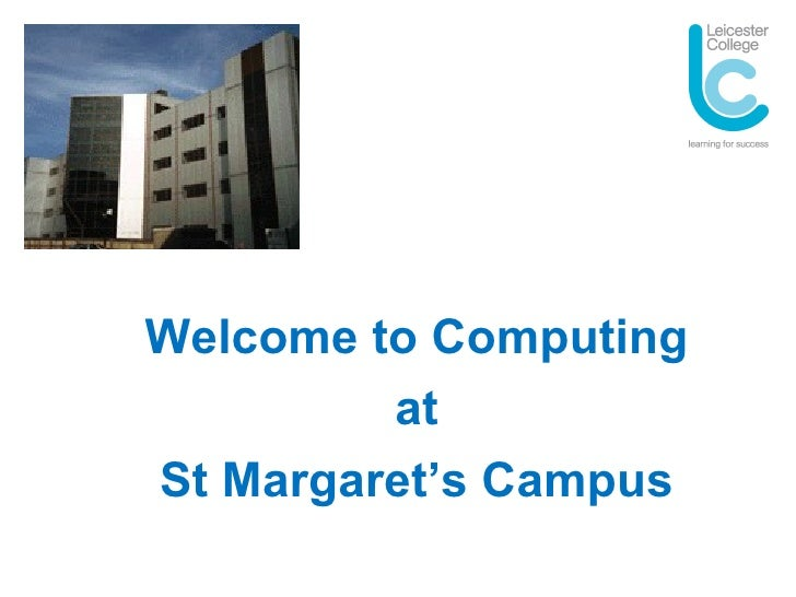 Welcome to Computing at St Margaret's Campus